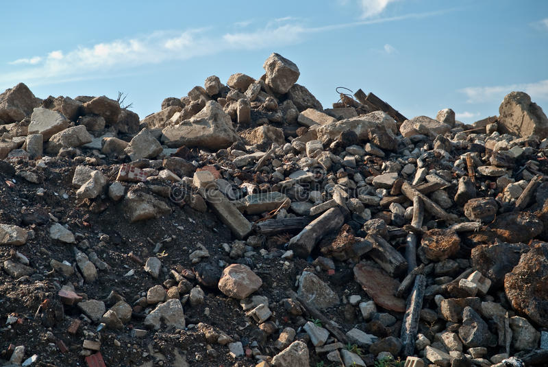 建筑堆垃圾 库存照片