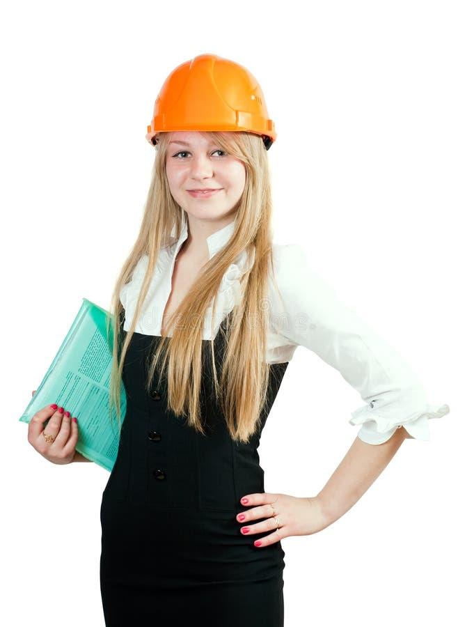 建筑女性经理 免版税库存照片