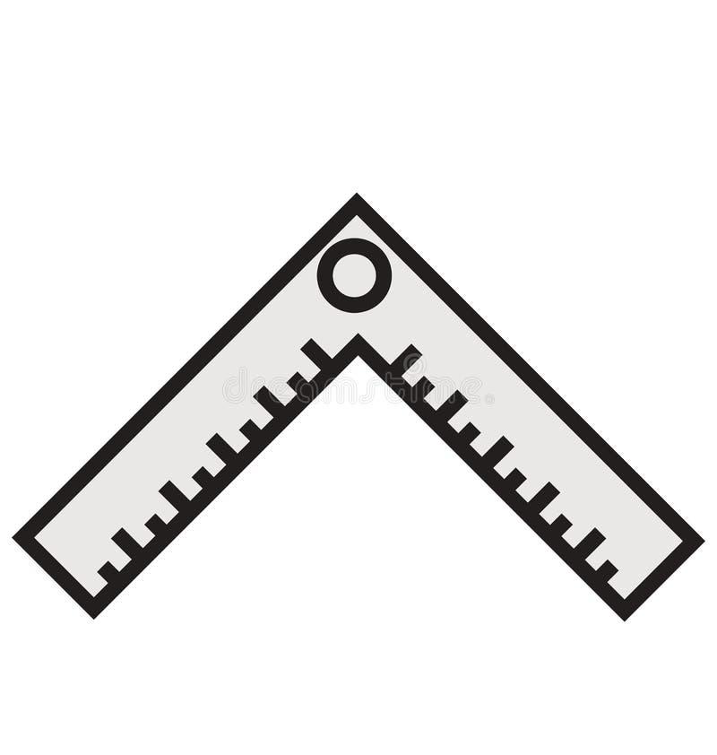 建筑学可以容易地被编辑或修改的统治者概述和被填装的被隔绝的传染媒介象 向量例证