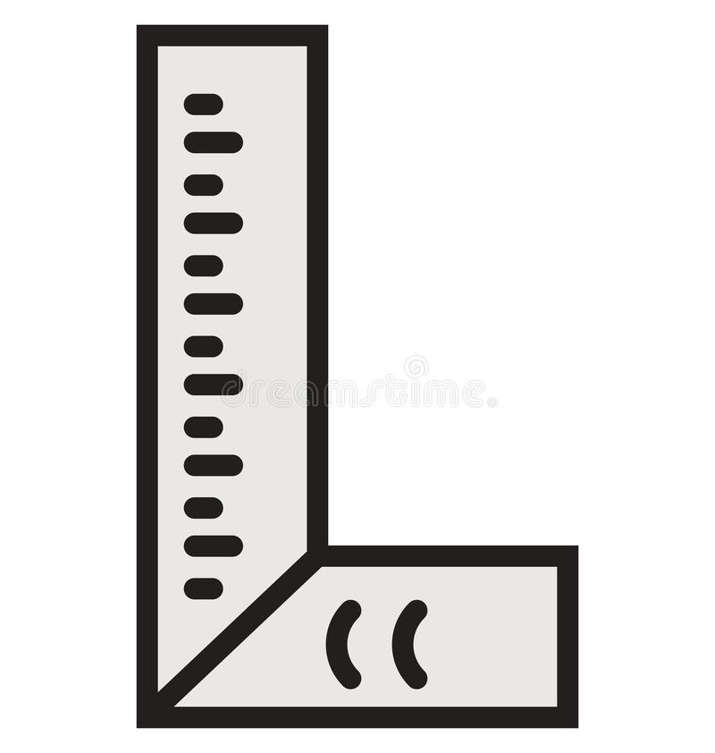 建筑学可以容易地被编辑或修改的统治者概述和被填装的被隔绝的传染媒介象 库存例证