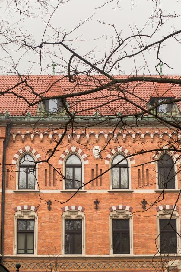 建筑学在波兰 免版税库存照片