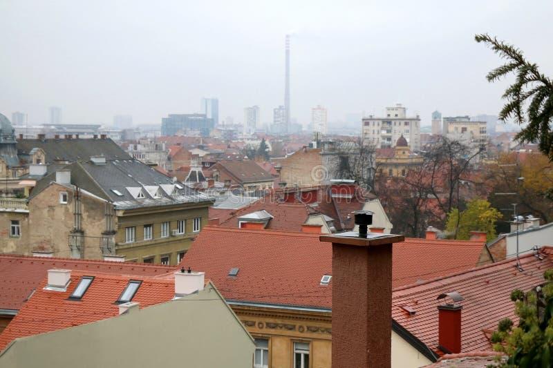 建筑学在萨格勒布,克罗地亚 图库摄影