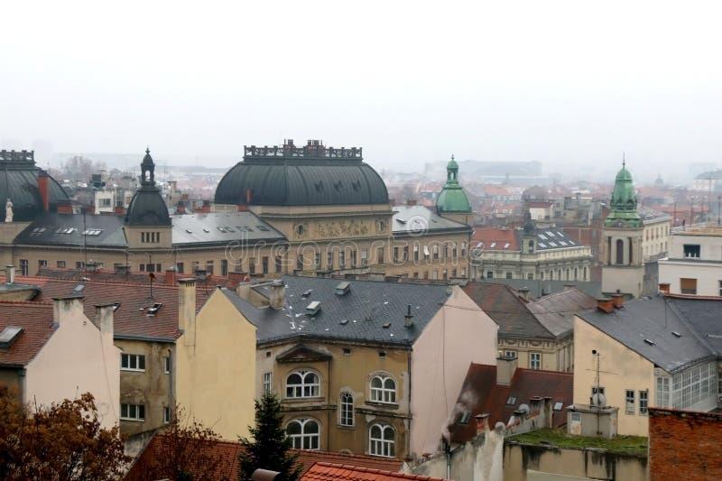 建筑学在萨格勒布,克罗地亚 库存照片