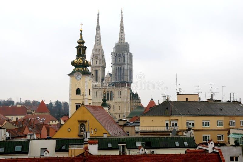 建筑学在萨格勒布,克罗地亚 免版税库存照片