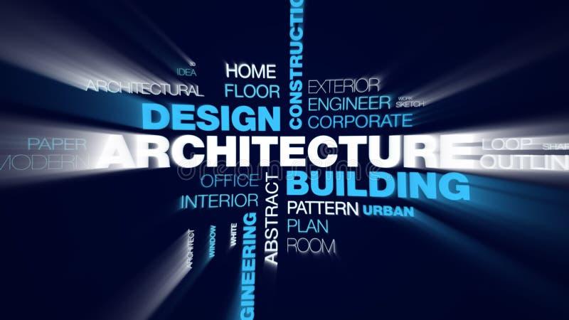 建筑学大厦设计建筑结构技术图纸企业城市工程学概念给词赋予生命 库存例证