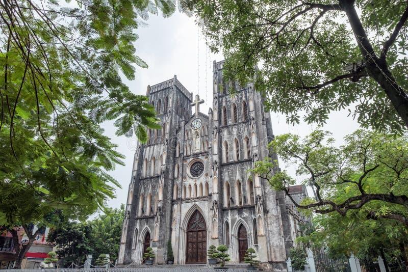 建筑学教会天主教lan圣约瑟夫的大教堂  库存图片