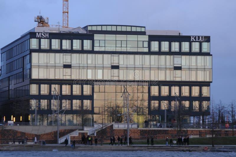 建筑学Hafencity在汉堡 图库摄影