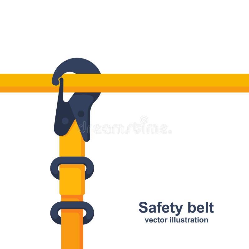 建筑安全传送带 游乐器具被紧固到管子 皇族释放例证