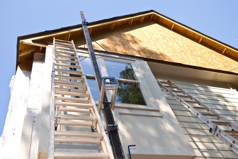建筑安装房屋板壁 免版税库存图片