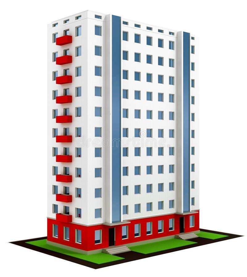 建筑完成的房子现代新 库存例证