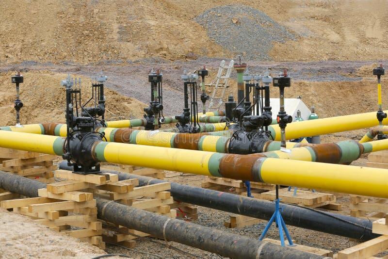 建筑工作气体管道 免版税库存图片