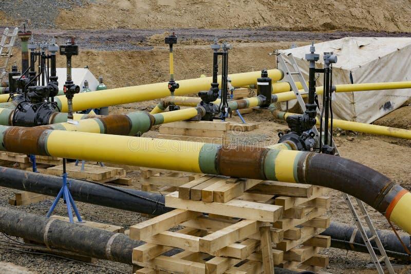 建筑工作气体管道 库存照片