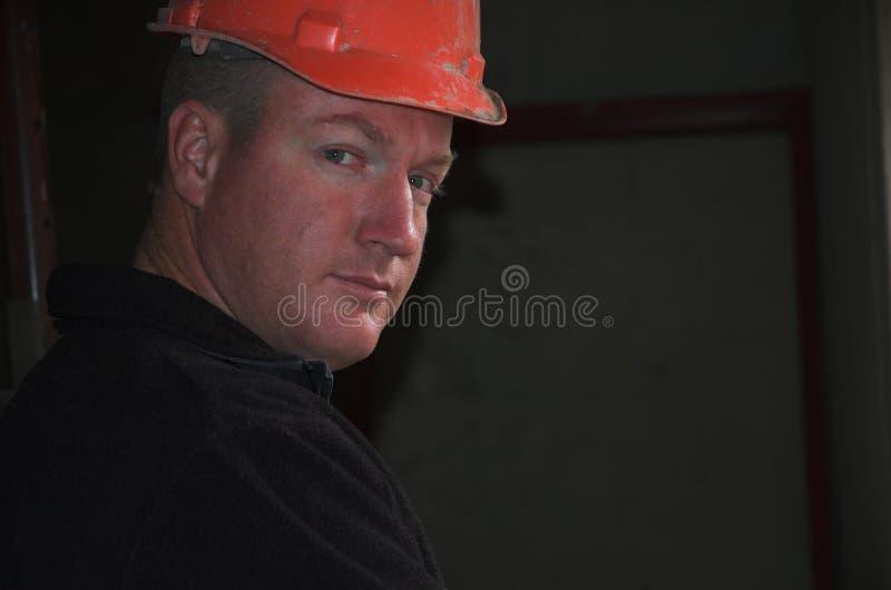 建筑工头纵向 库存照片