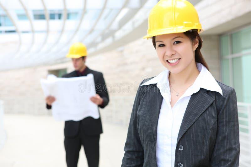 建筑师人妇女 免版税图库摄影