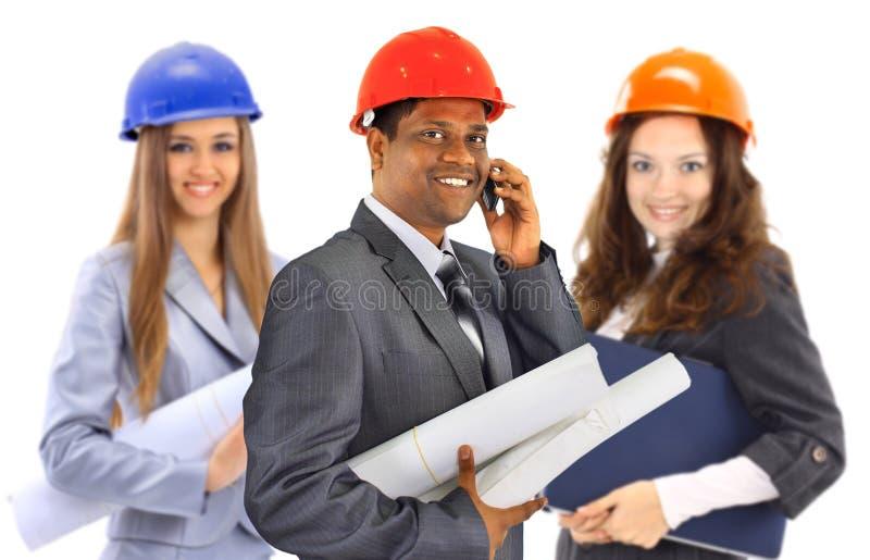 建筑师人小组妇女 免版税库存图片