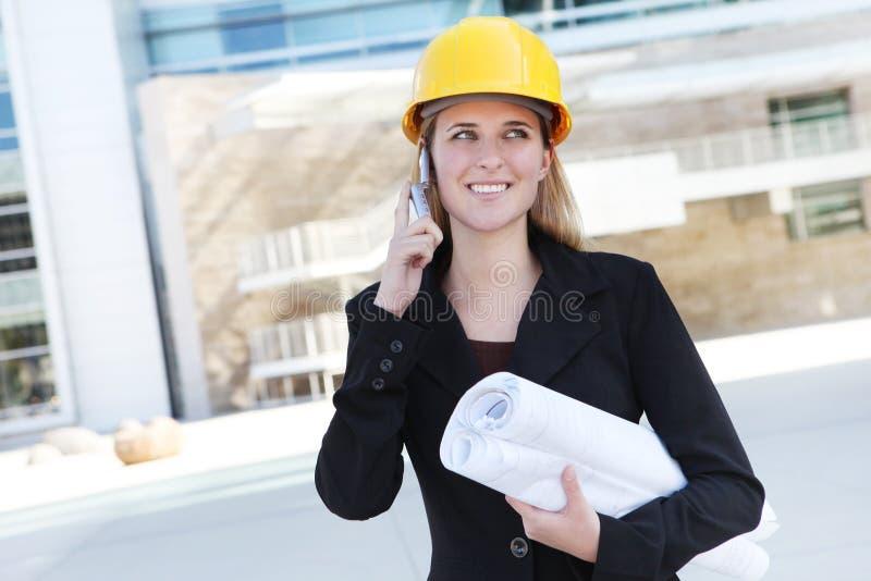 建筑师企业俏丽的妇女 图库摄影