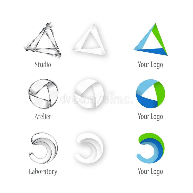 建筑师公司徽标 向量例证