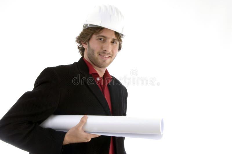 建筑师图纸藏品 图库摄影