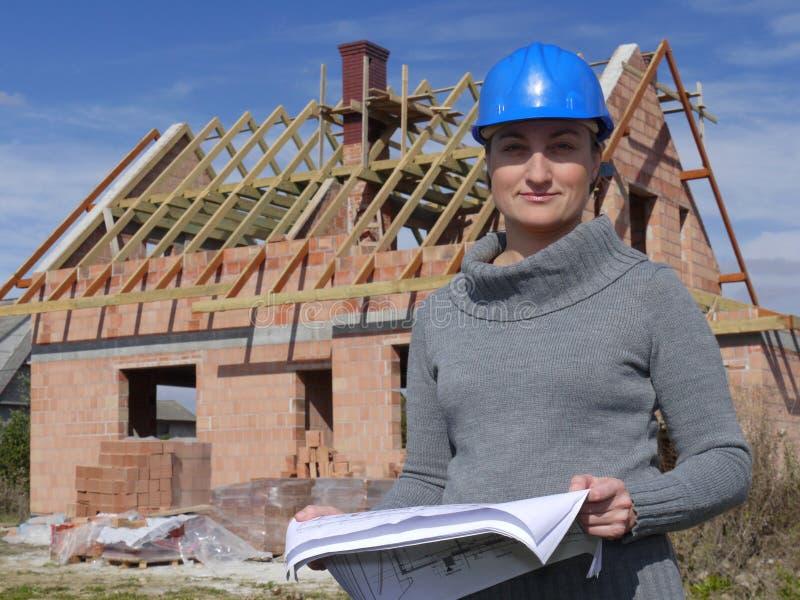 建筑师女性 免版税图库摄影