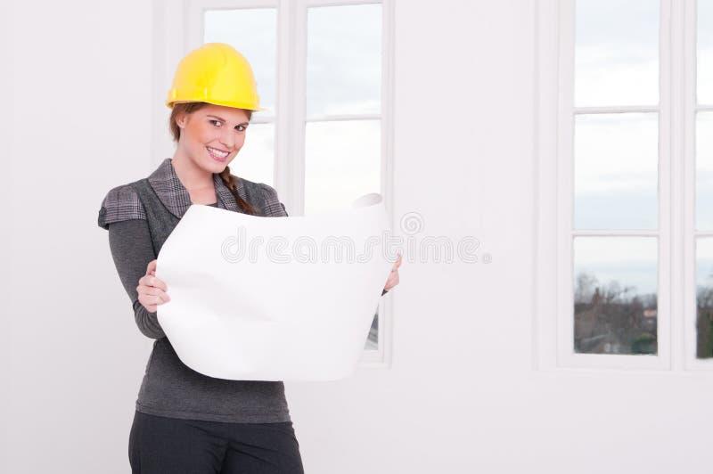 建筑师女性 库存照片