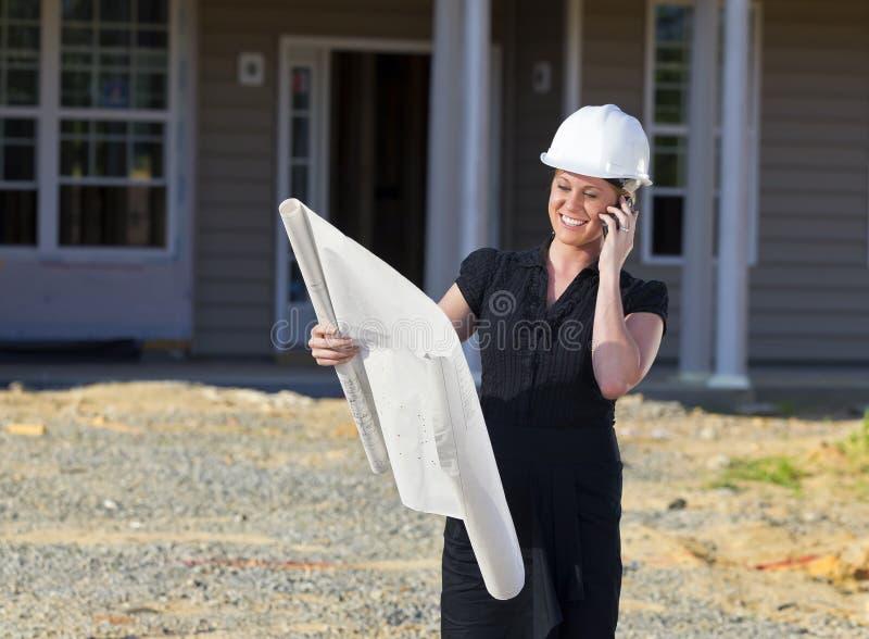 建筑师女性 免版税库存图片