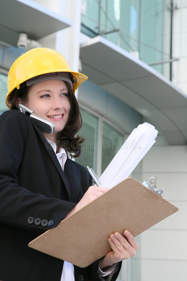 建筑师妇女 免版税库存图片
