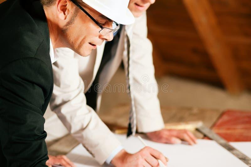 建筑师建筑工程师计划 图库摄影