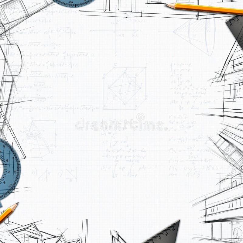 建筑师建设者设计员背景 皇族释放例证