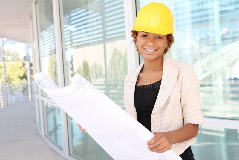 建筑师建造场所妇女 免版税图库摄影