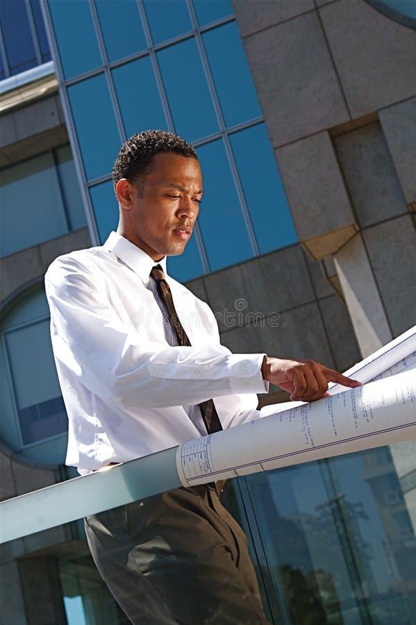 建筑师成功的年轻人 库存照片