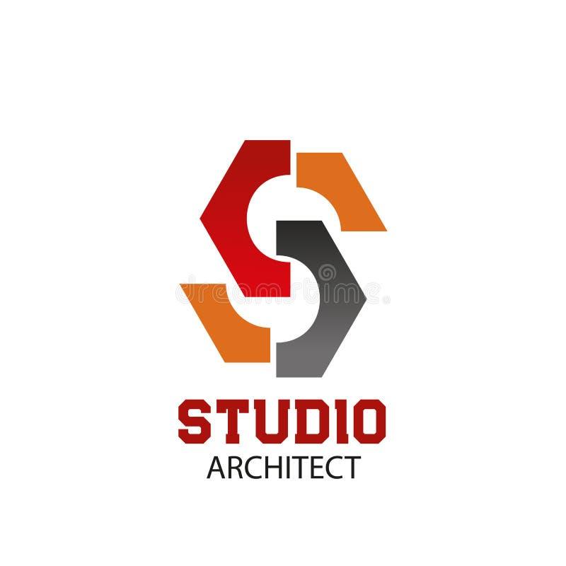 建筑师演播室传染媒介字母S象 向量例证