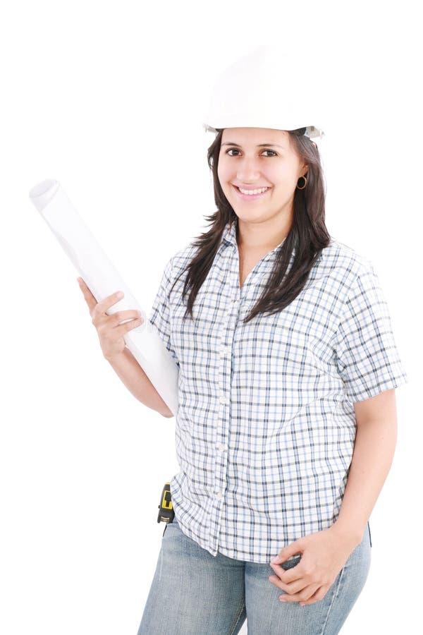 建筑师盔甲佩带 免版税库存照片