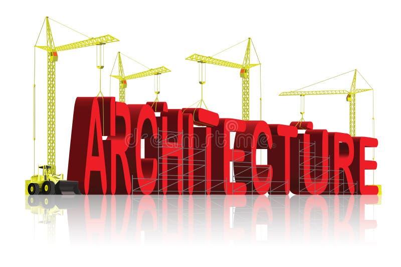 建筑师结构创造性图纸的大厦 向量例证