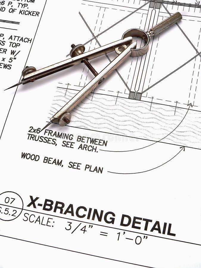 建筑师计划s工具 库存照片