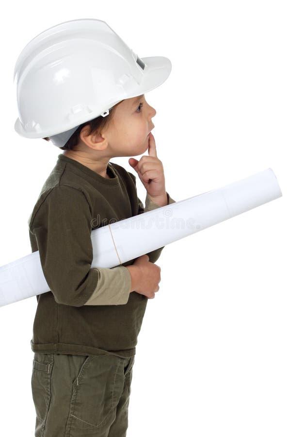建筑师远期 免版税库存照片