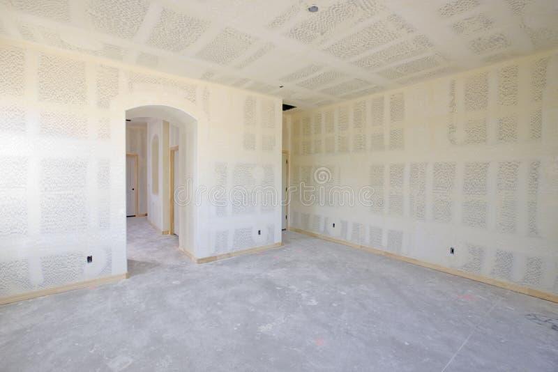 建筑干式墙内部新 免版税库存照片