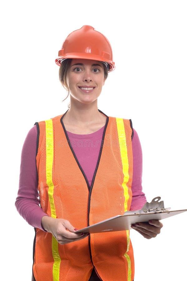 建筑成套装备妇女 库存照片