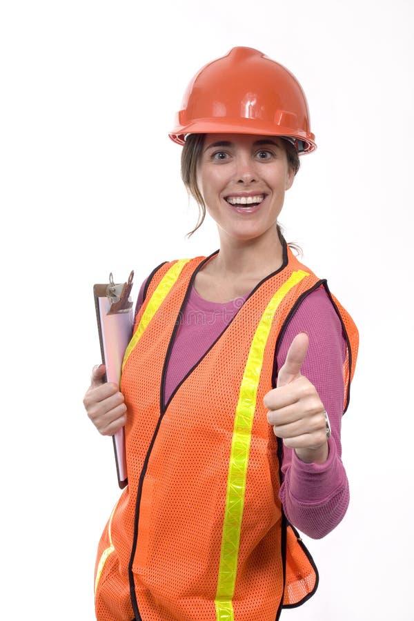 建筑成套装备妇女 图库摄影