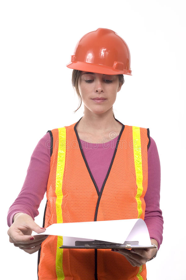 建筑成套装备妇女 库存图片