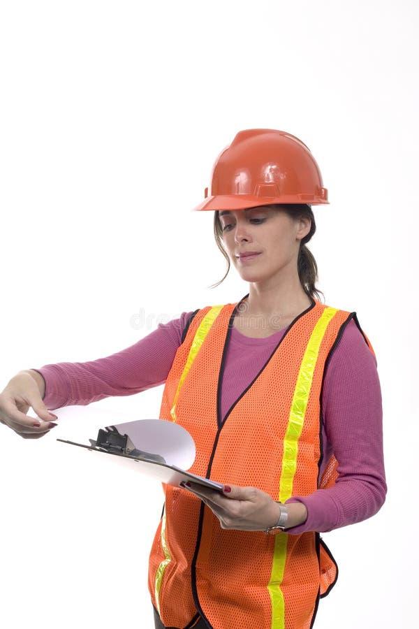 建筑成套装备妇女 免版税库存照片