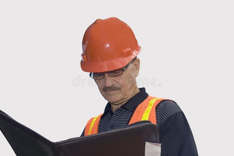 建筑成套装备的人 库存照片