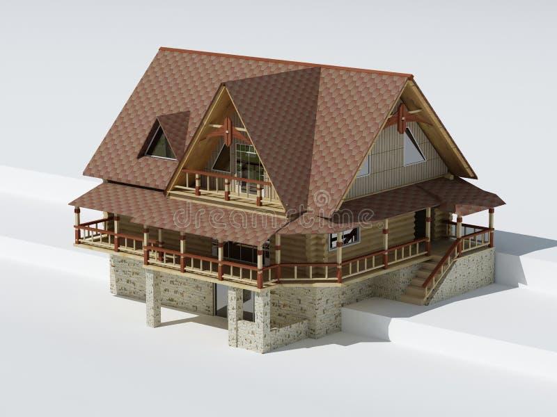 建筑房子 皇族释放例证