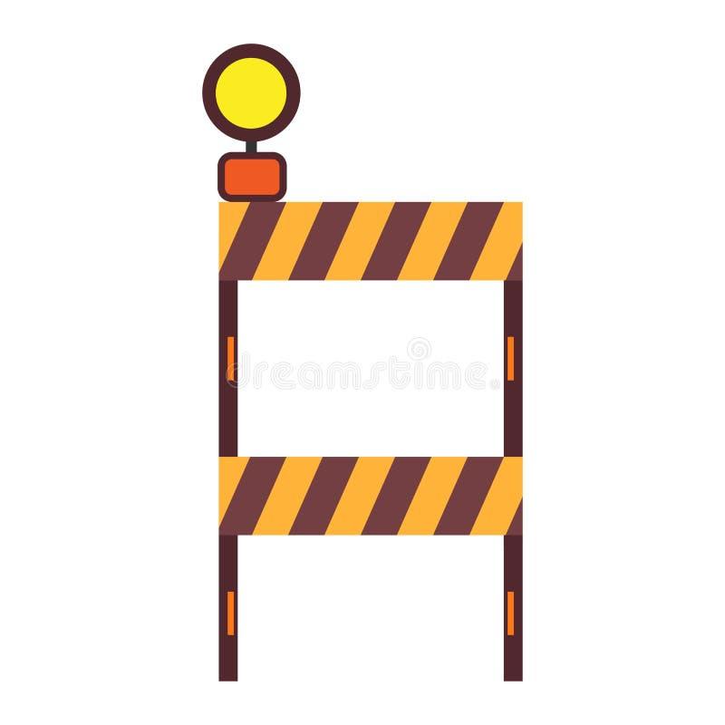 建筑护拦中止标志交通设备界限 产业路障高速公路障碍警告传染媒介 库存例证