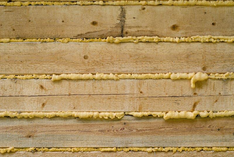 建筑木泡沫的聚氨酯 库存图片