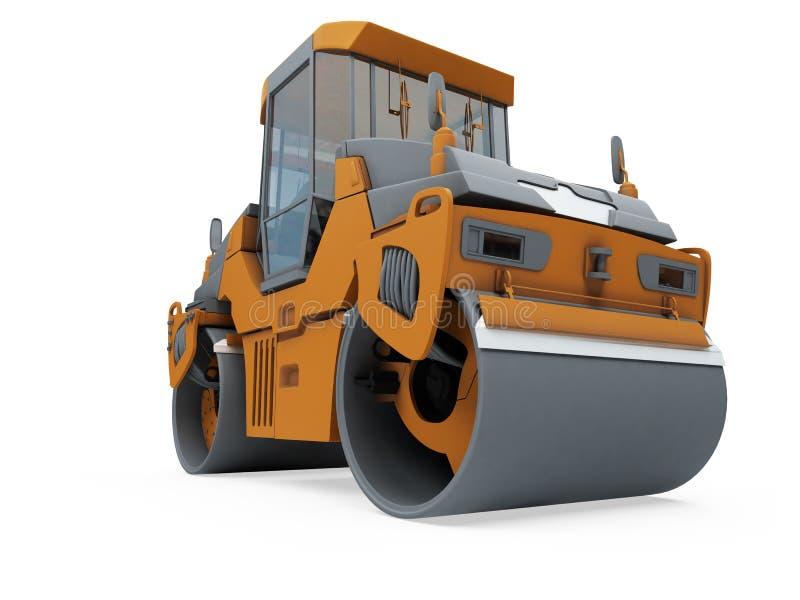建筑查出的卡车视图 向量例证