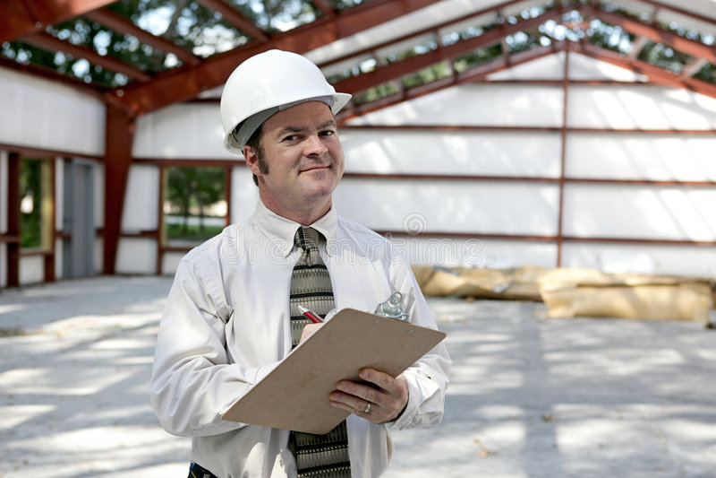 建筑检查员满足 免版税库存照片