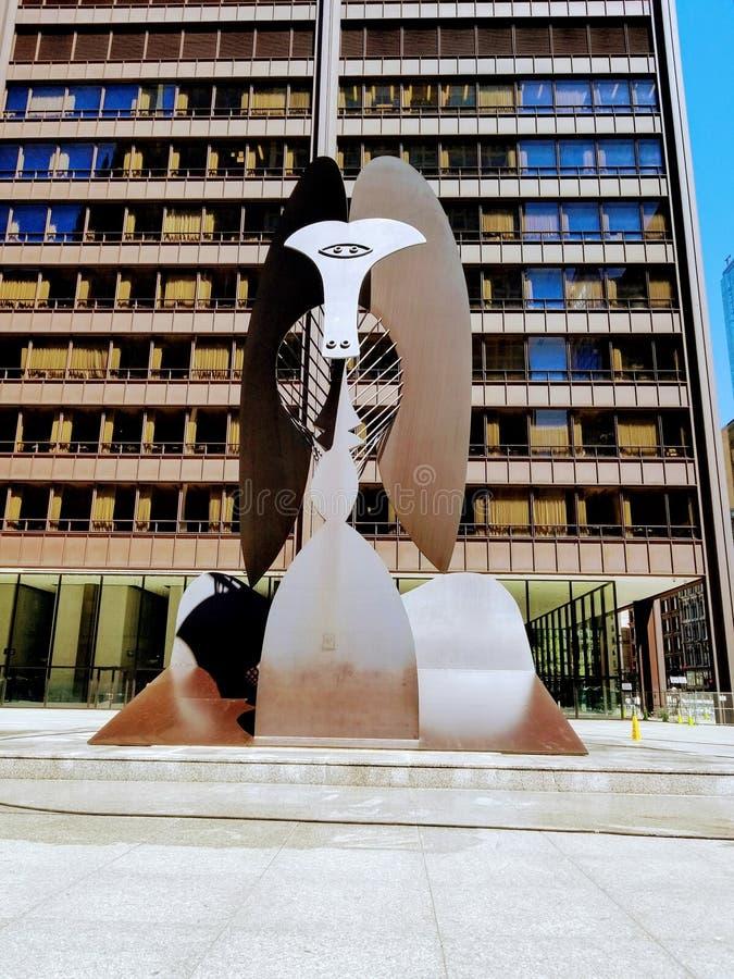 建筑步行在芝加哥美国  免版税库存照片