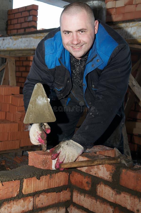 建筑泥工工作者 库存图片