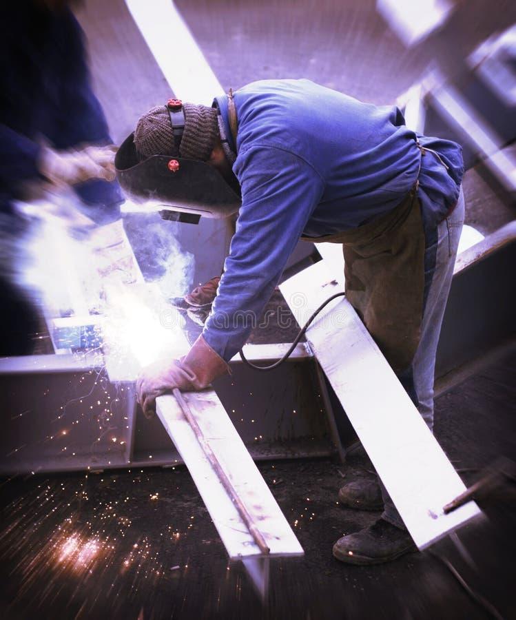 建筑焊工 库存照片