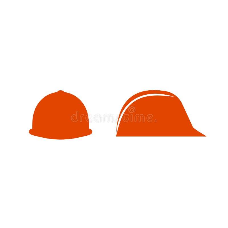 建筑盔甲象 安全帽象 盔甲建造者象 建筑 在空白背景查出的向量例证 库存例证